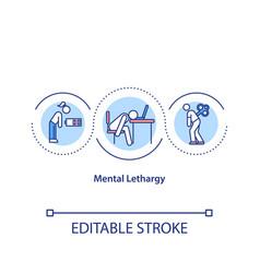 Mental lethargy concept icon vector