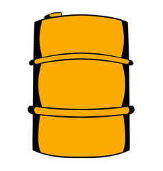 metal barrel icon cartoon vector image