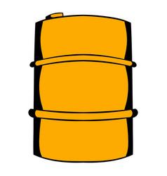 Metal barrel icon cartoon vector