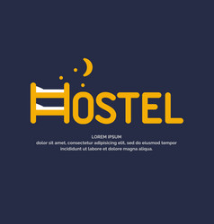 Modern conceptual logo of the hostel vector
