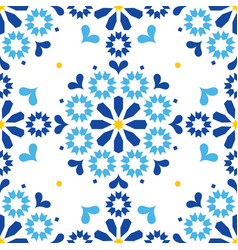 moroccan or portuguese seamless pattern vector image