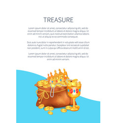 mysterious rreasure hidden in bag royal crown vector image