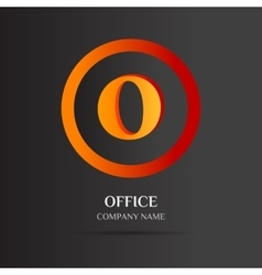 O Letter logo abstract design vector image
