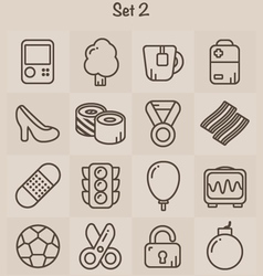 Outline Icons Set 2 vector