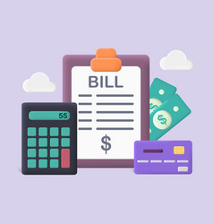 Pay bills and tax concept vector