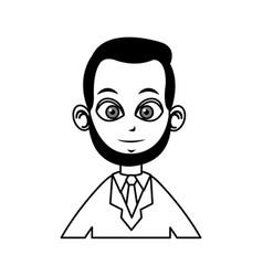 portrait doctor man character line vector image