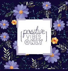 Positive attitude message with hand made font vector