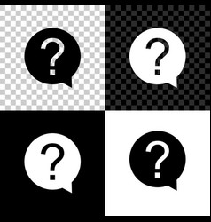 question mark in circle icon isolated on black vector image