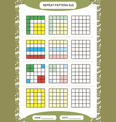 Repeat colorful pattern cube grid with squares vector