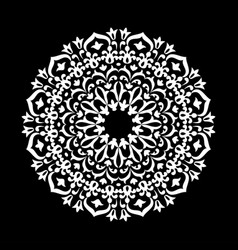 round abstract ornament of coloring book for vector image