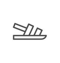 Sandal line icon vector