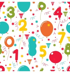 Seamless pattern birthday party balloons vector