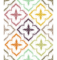 seamless pattern design with ikat ornaments vector image