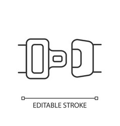 seat belt pixel perfect linear icon vector image