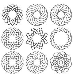 set elements for arabic design vector image