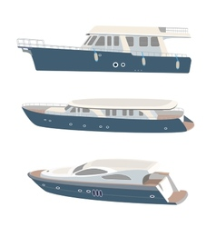 Set of yacht vector