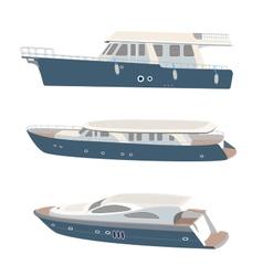 Set yacht vector