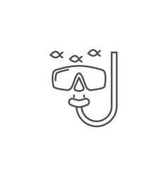Snorkeling related line icon vector