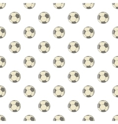 Soccer ball pattern cartoon style vector