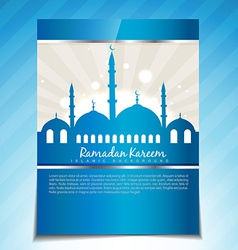 stylish ramadan template vector image