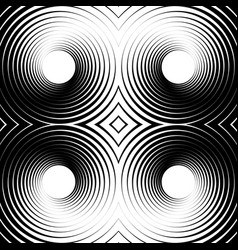 Symmetrical repeatable pattern with concentric vector