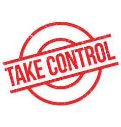 take control rubber stamp vector image