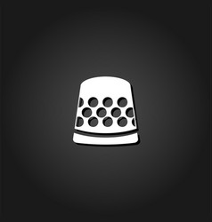thimble icon flat vector image