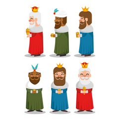 three magic kings of orient cartoons vector image
