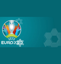 Uefa euro 2020 football or soccer background vector