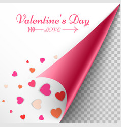 valentine day paper heart icon vector image