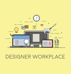 web and mobile design and developing designer vector image