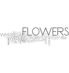 wholesale flowers text word cloud concept vector image