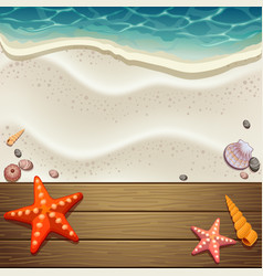 Wood and sand background vector