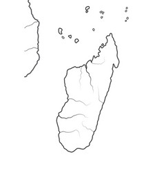 World map madagascar geographic chart with vector