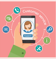 customer service concepttechnical support call vector image vector image