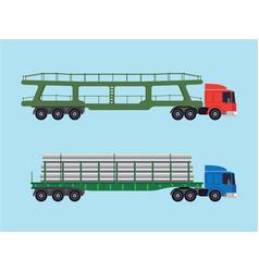 long-size trucks vector image
