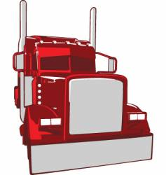 semi truck illustration vector image