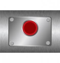 silver metal button vector image vector image