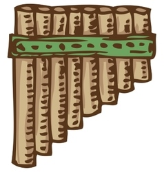 Bamboo Pan Flute vector image vector image