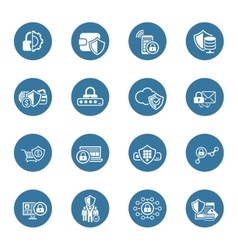 Flat Design Protection and Security Icons Set vector image