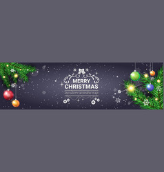 merry christmas poster decorative holiday vector image