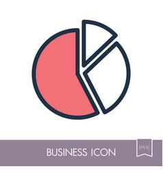 pie chart icon finances sign vector image