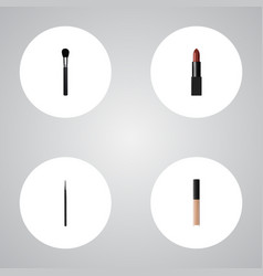 realistic cover beauty accessory cosmetic stick vector image vector image