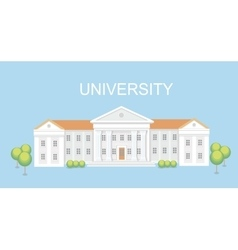University or college building Campus design vector image vector image