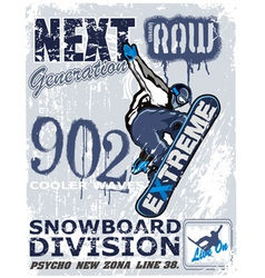 extreme snow boarder Revise vector image