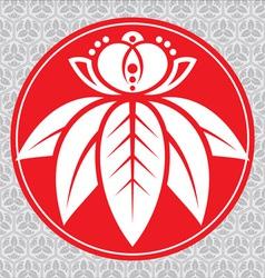 japanese lotus vector image vector image