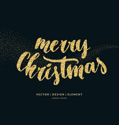 merry christmas card with vector image