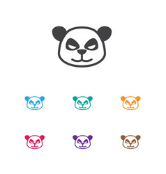 of zoo symbol on panda icon vector image vector image