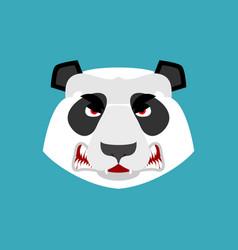 panda angry emoji chinese bear aggressive emotion vector image