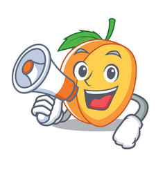 with megaphone apricot character cartoon style vector image vector image